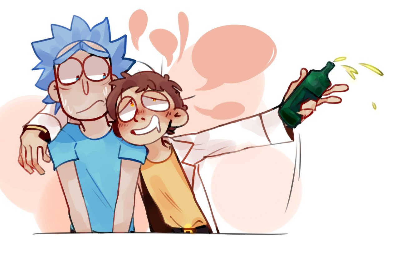 Body swap Rick and Morty by Lazysheet on Tumblr