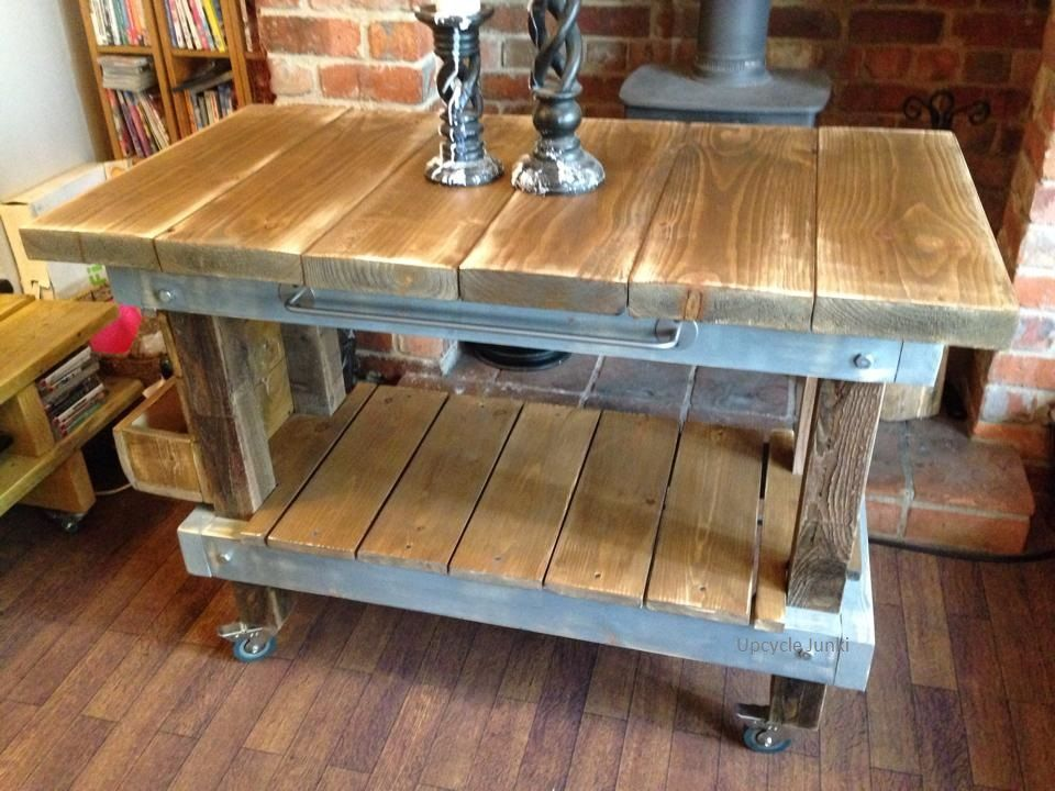 The very first butchers block we made and still one of the most popular colours our own blend of Industrial grey and dark oak shabbied back  Buy from our Etsy shop https://www.etsy.com/uk/shop/HardybarnReloved?ref=hdr_shop_menu