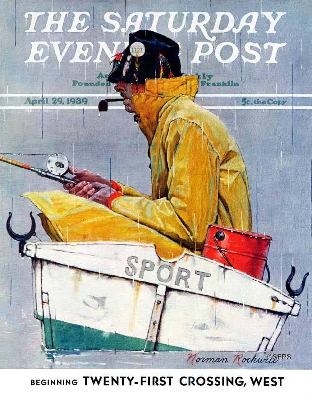 Norman Rockwell Saturday Evening Post Print SANTA 1939