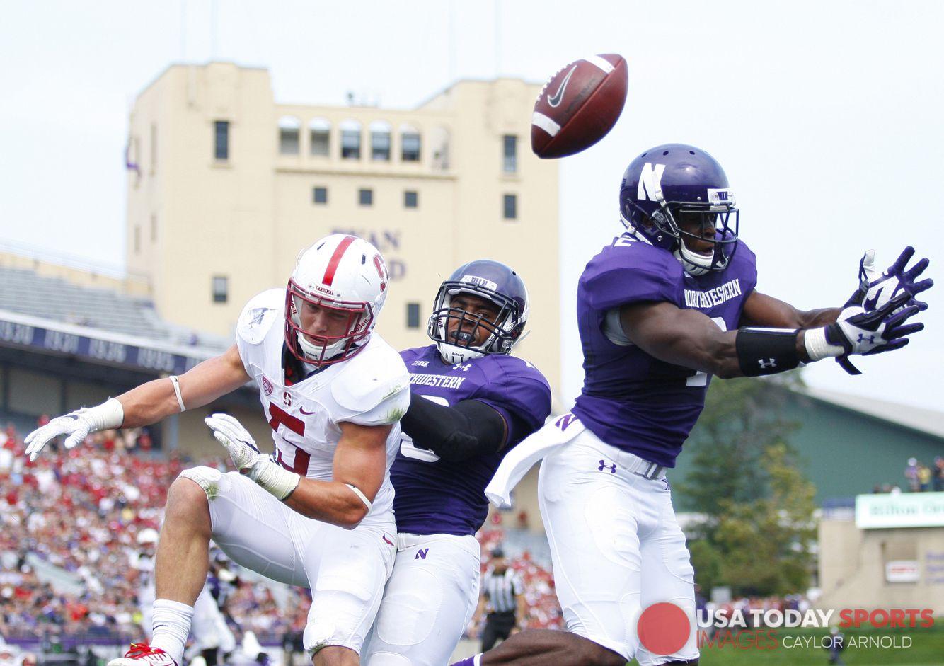 Northwestern vs stanford football helmets northwestern