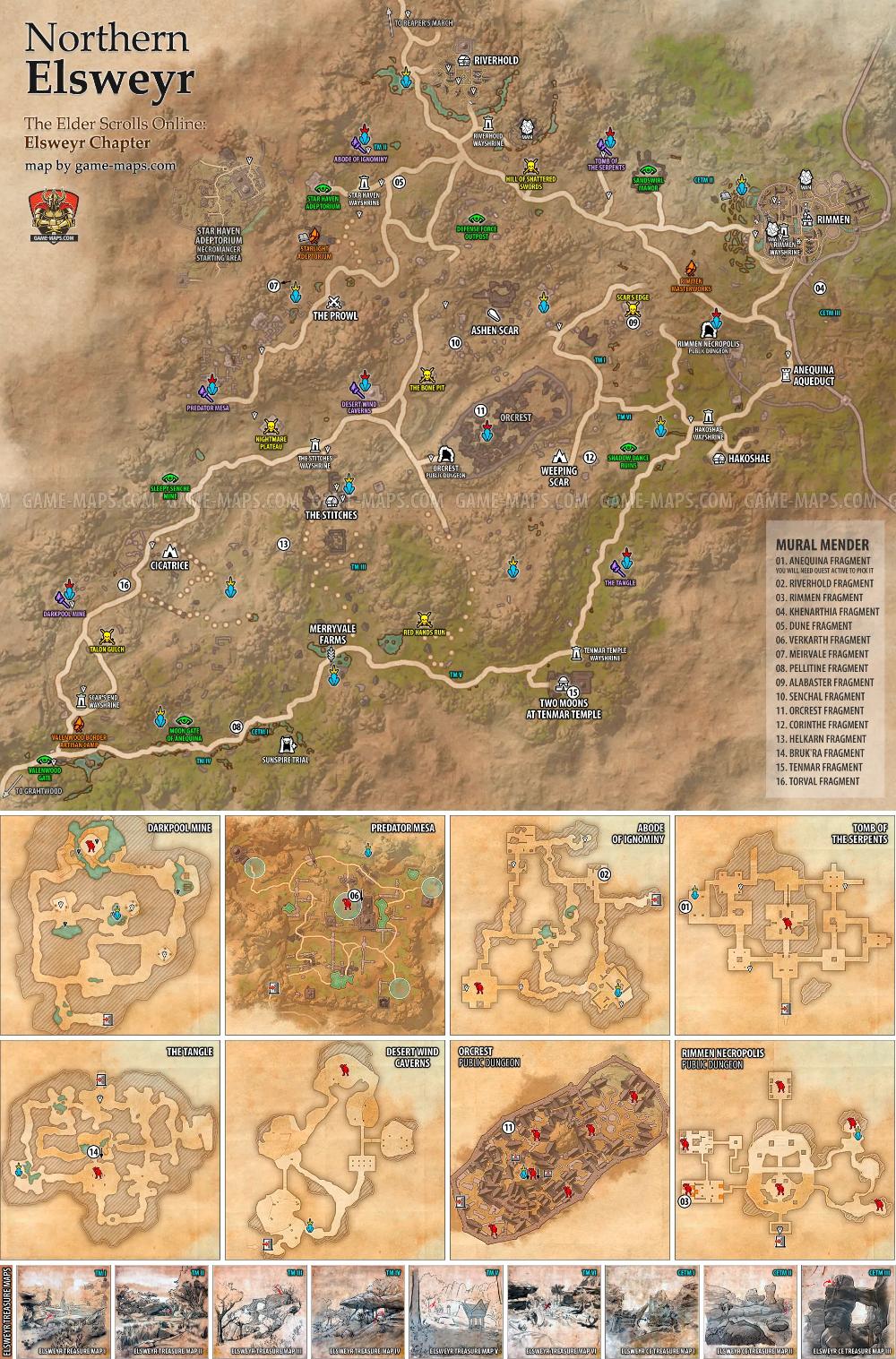 Glenumbra Map : glenumbra, Northern, Elsweyr, Elder, Scrolls, Online,