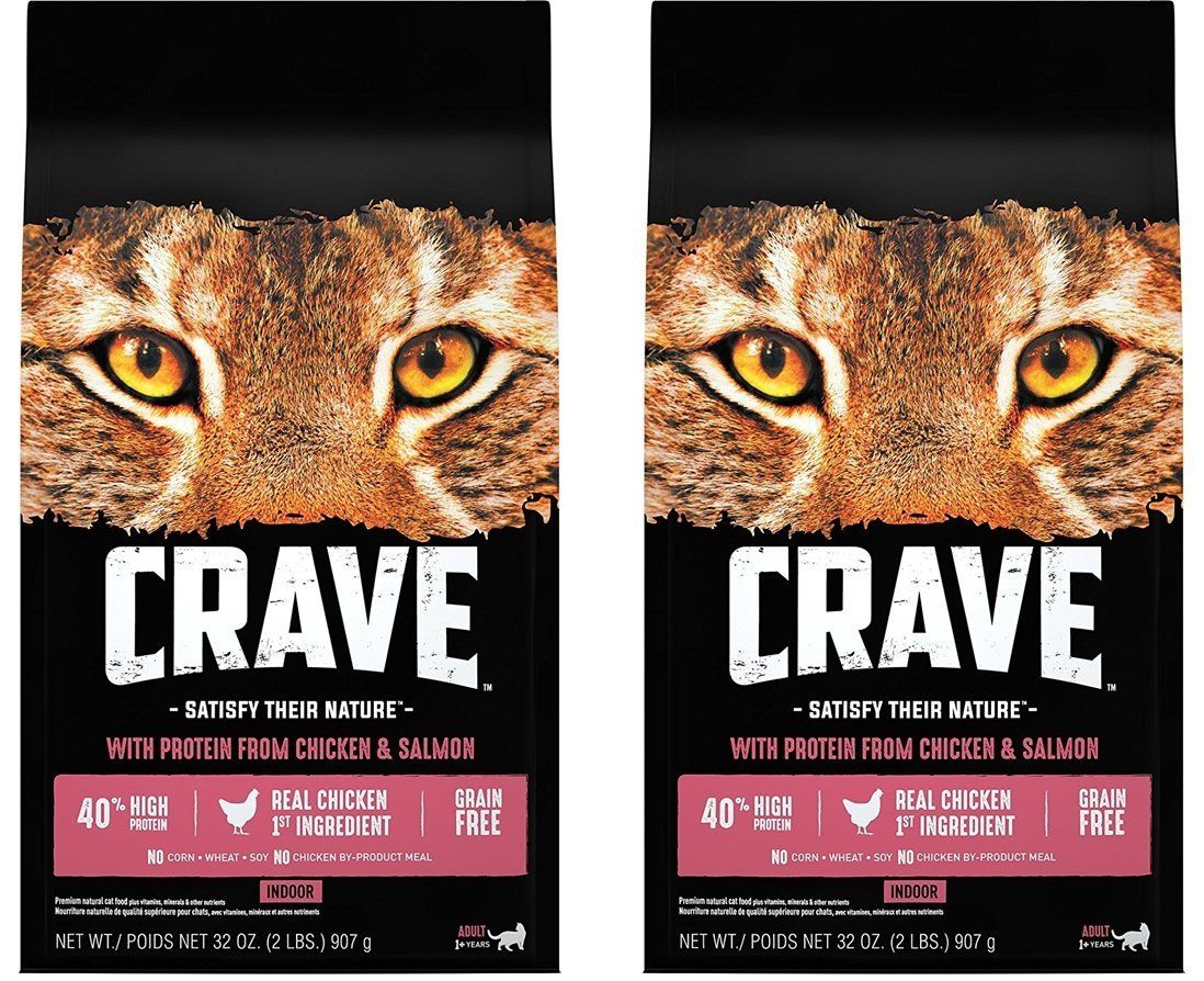 Crave Indoor Grain Free Dry Cat Food With Protein From Chicken And Salmon Bag With Bonus Magnetic Feeding Guidelines 2 Lb Dry Cat Food Cat Food Fish In A Bag