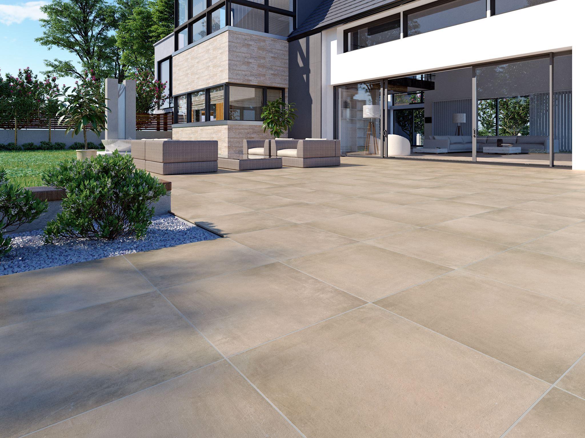 Creme   Notos außen 200x200x20 cm   Stein & Co   Außengestaltung ...