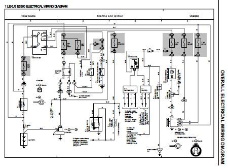 1993 Lexus Es300 Vcv10 Series Electrical Wiring Diagram Electrical Wiring Diagram Diagram Electrical Wiring