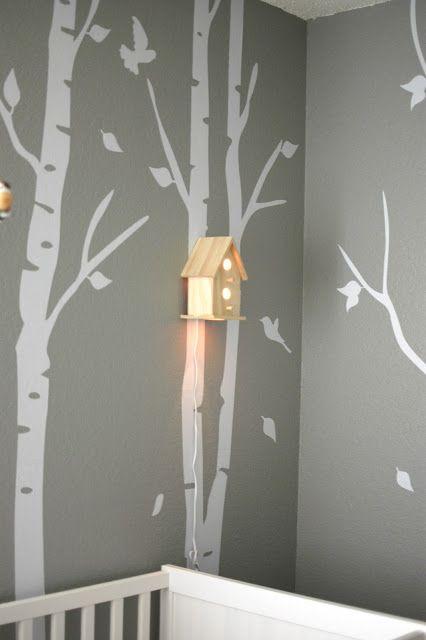 Woodland nursery for baby girl pinterest wandlampen kinderzimmer und babyzimmer - Wandlampe babyzimmer ...