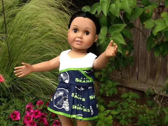 Seahawks cheerleader outfit for 18 inch doll #18inchcheerleaderclothes