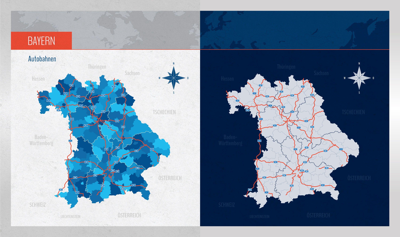 Landkarte Bayern Mit Landkreisen Landkarte Bayern Bayern Karte Landkarte