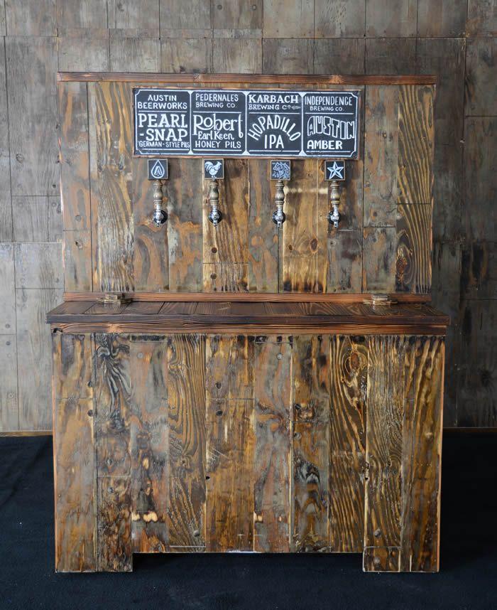 Pallet Wood Keg Bar  Marquee Rents  Party & Wedding Rental in Austin, TX