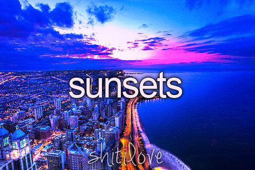 Sunsets all over the world