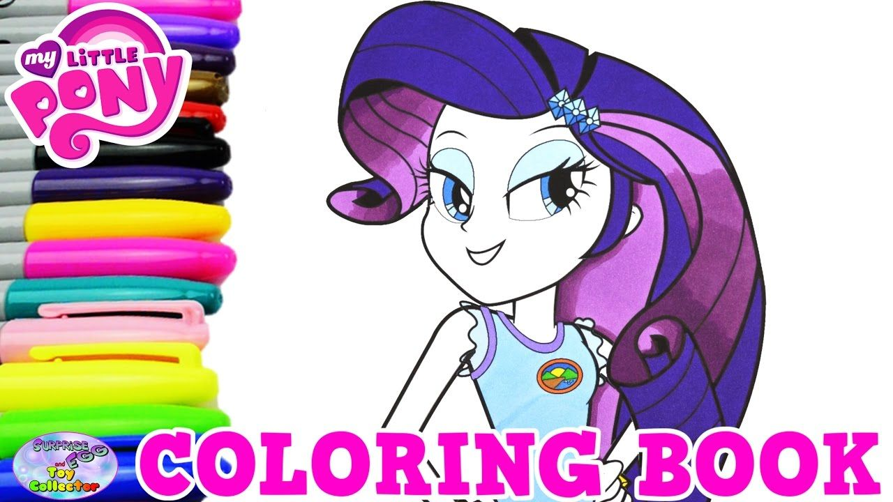 My Little Pony Coloring Book Rarity Legend Of Everfree Episode ...