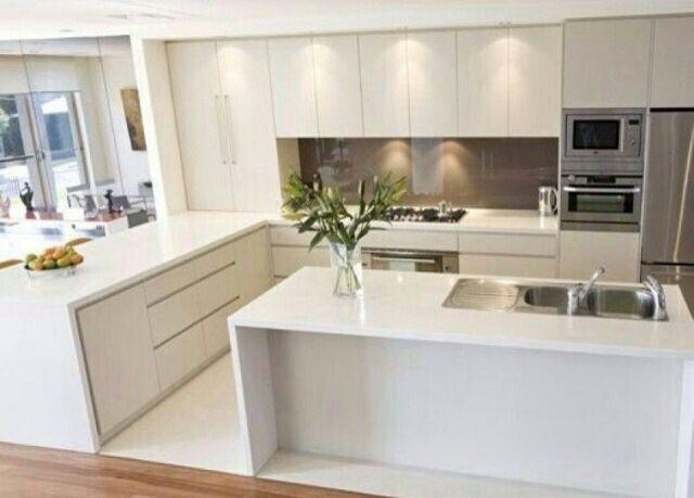 cozinha kitchenette pinterest wei e k chen k che und einrichten und wohnen. Black Bedroom Furniture Sets. Home Design Ideas