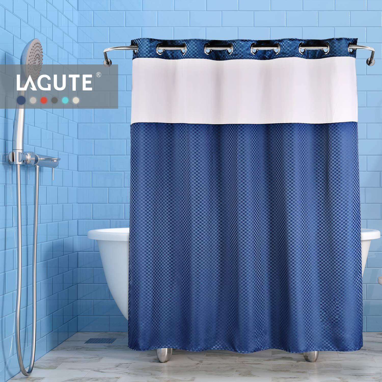 Lagute Snaphook Truecolor Hookless Shower Curtain Removable