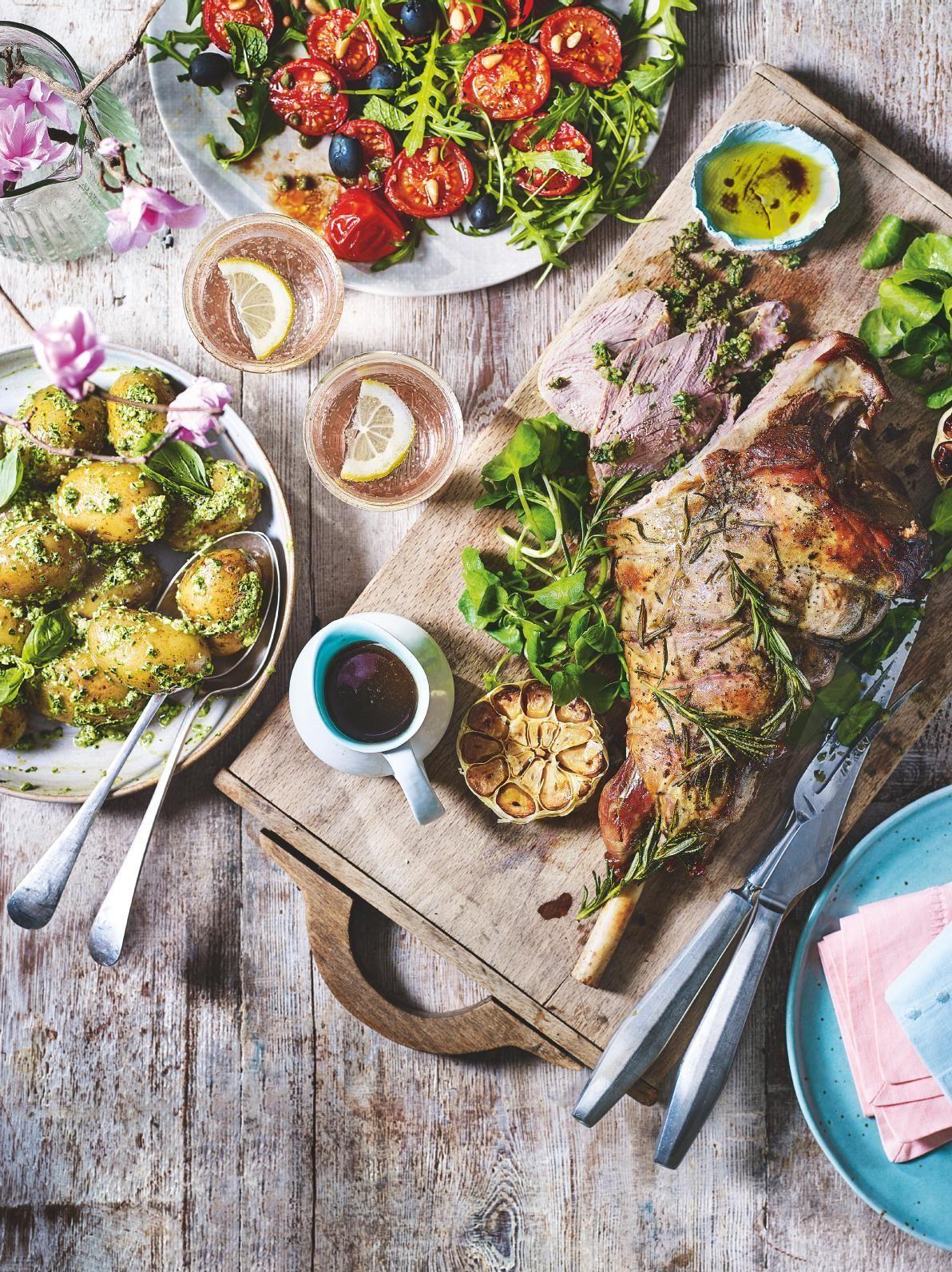 Tesco Magazine March 2018 Food Flatlay Spring Recipes