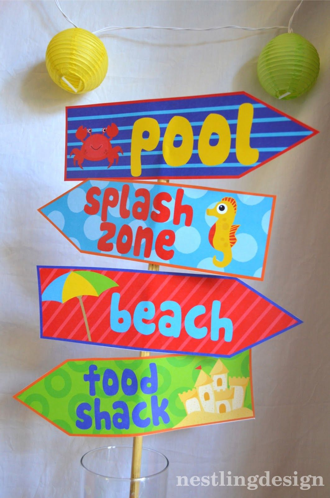 Nestling: Beach Ball Pool Party Reveal! {New to the Shop} | Iyanna ...