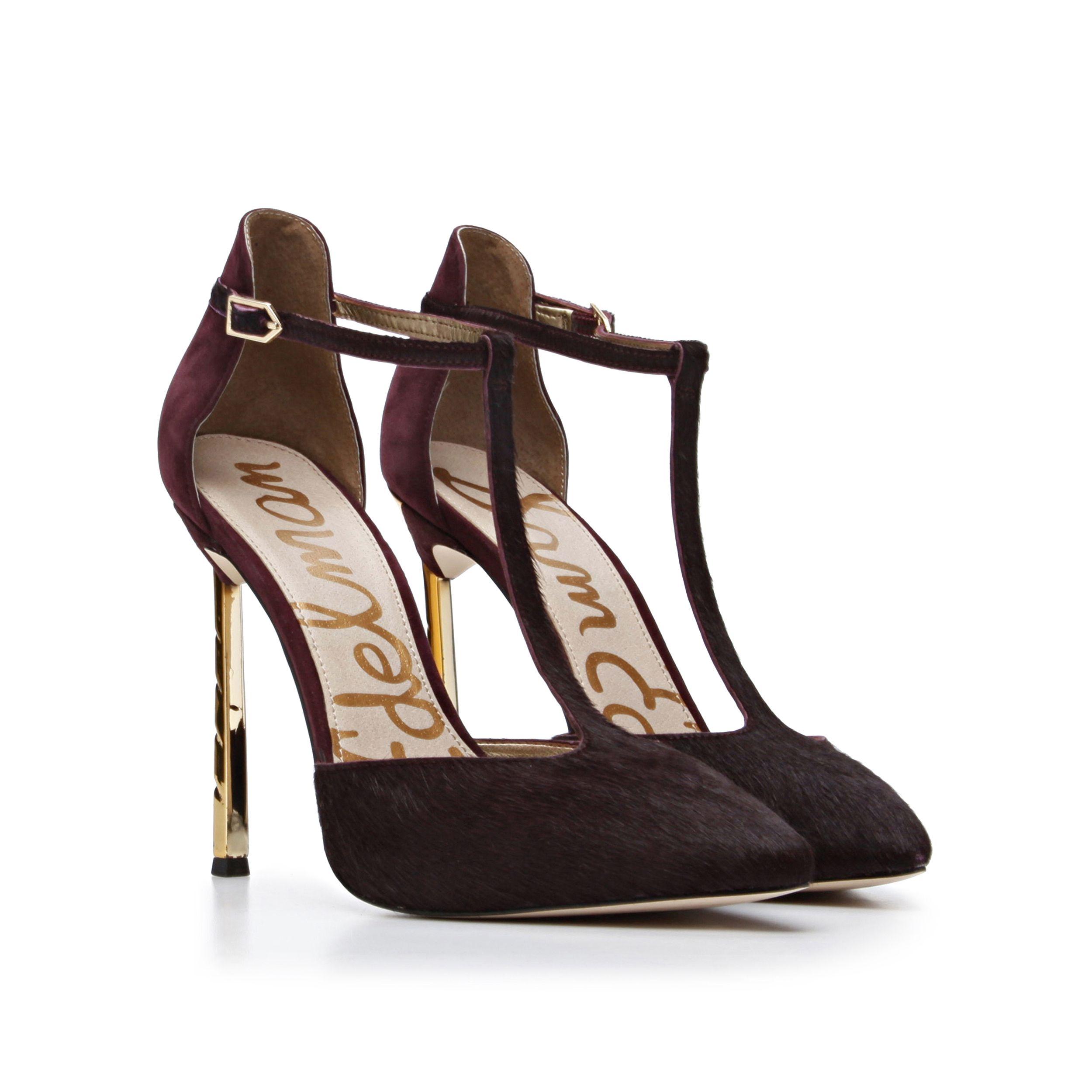 d4e535eea7f534 The  Smithfield  heel in Burgundy pony hair