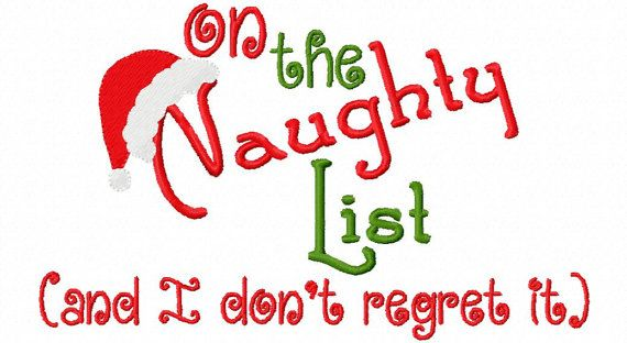 Christmas Embroidery Design On The Naughty By Sosassyembroidery