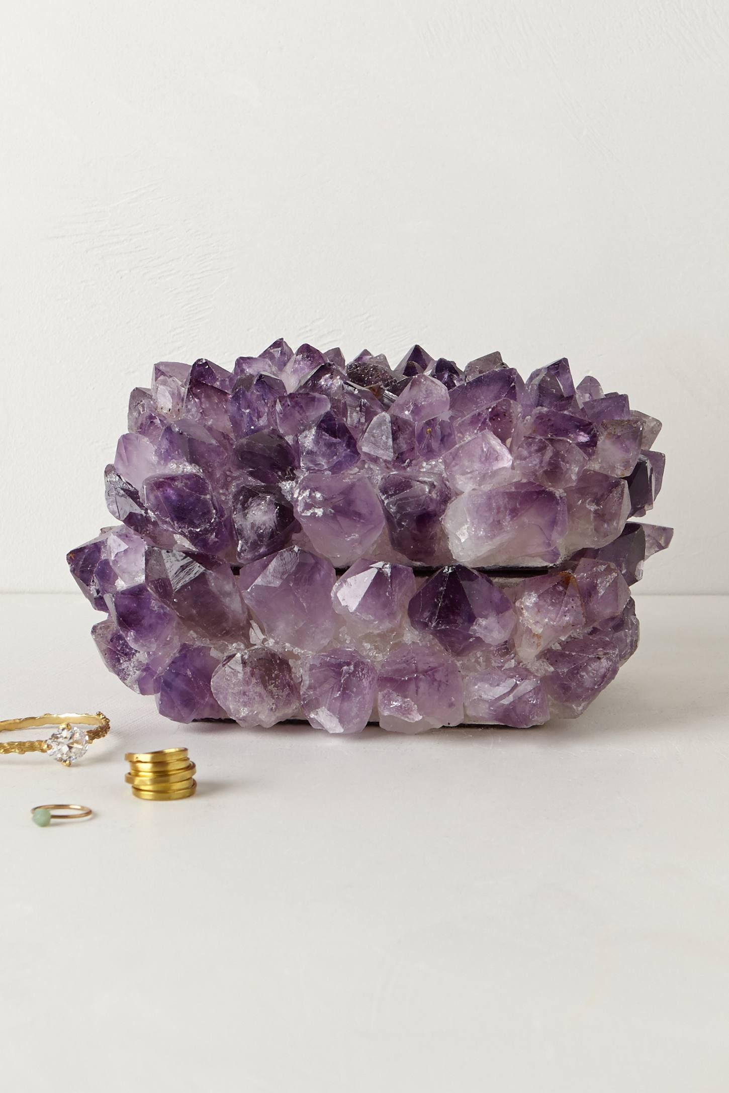 Amethyst Stone Jewelry Box - anthropologie.com Anyone who is rich wanna get me this? ;)