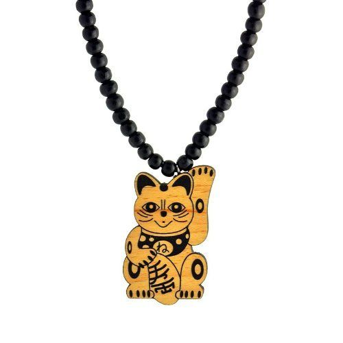 Swaggwood Chinese Lucky Cat Pendant Maple All Natural Wood Necklace Made in the USA Swaggwood. $24.99. Stylish. Unique. Natural. Wooden. Made in the USA