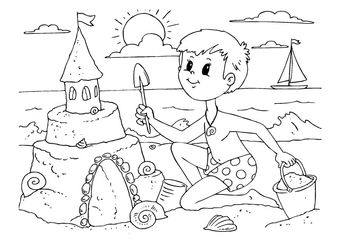 Coloring Page To Build A Sandcastle Img 22604 Castle Coloring Page Coloring For Kids Coloring Pages