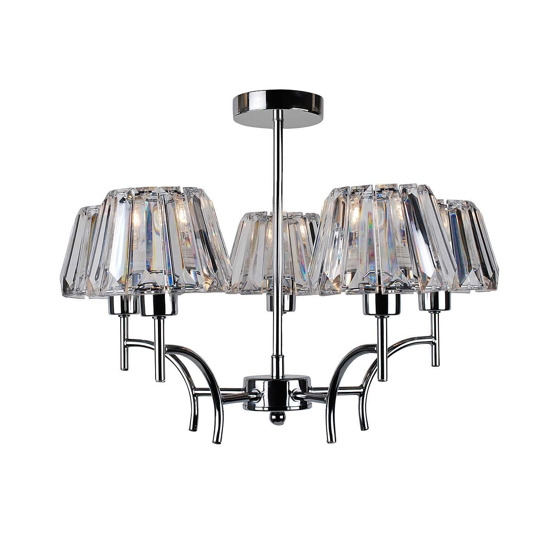 paloma acrylic 5 light fitting dunelm living room mood. Black Bedroom Furniture Sets. Home Design Ideas