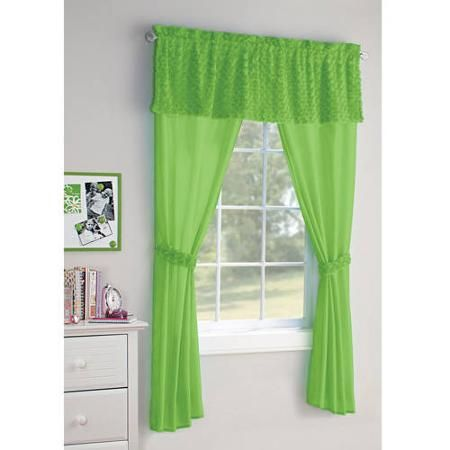 Your Zone 5 Piece Poodle Curtain Set Walmart Com Green Glaze