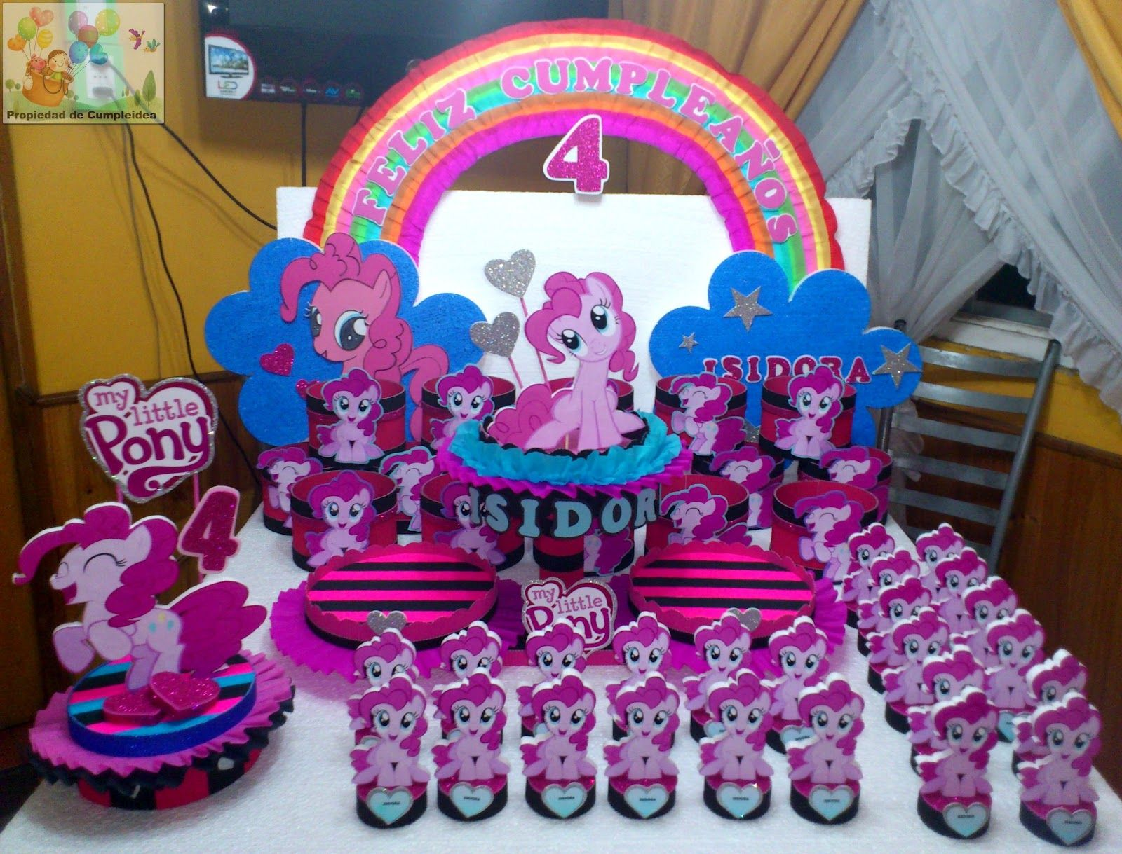 Fiesta De My Little Pony Related To Decoracion Con Icopor My