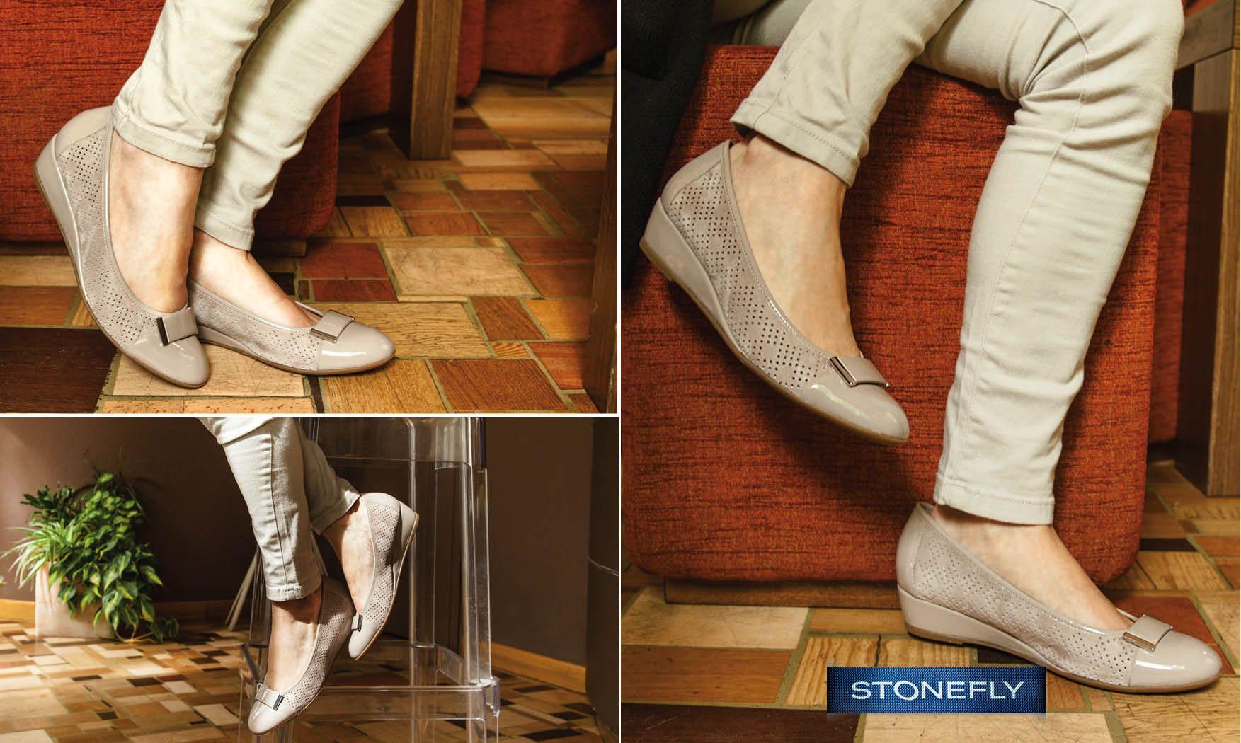Voglia di leggerezza ma ancora troppo freddo per i sandali? Le #ballerine sono perfette per questa mezza stagione, soprattutto se - come Maggie - sono in pelle scamosciata e eleganti dettagli in vernice. Scoprile qui >> http://ow.ly/4n8Sfg #Stonefly #scarpe #shoes