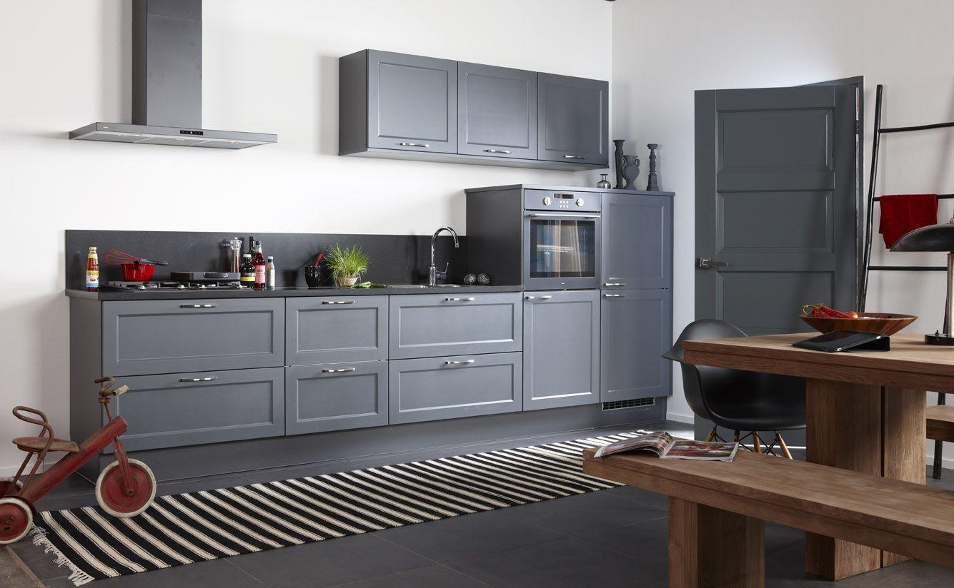 Bruynzeel keukens fronttype finesse o.a. in de kleur antraciet is