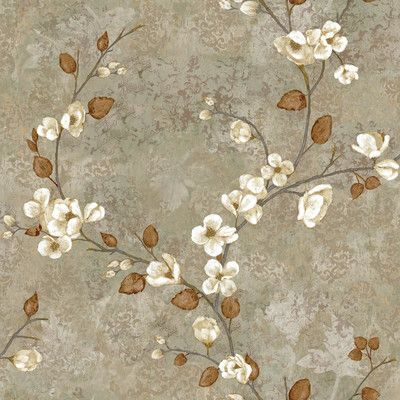Customer Image Zoomed Floral wallpaper, Botanical
