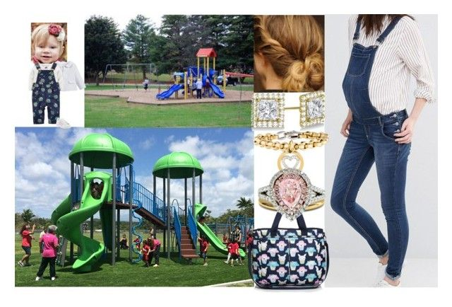 """""""Taking Addie to a local park and being spotted by the Paparazzi."""" by duchess-rebecca ❤ liked on Polyvore featuring Mama.licious, Patachou, adidas, LeSportsac, Allurez and Diana M. Jewels"""