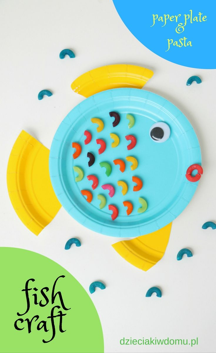 paper plate pasta fish craft