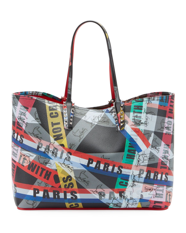 CABATA BLACK CALF Handbags Christian Louboutin
