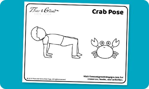 Celebrate The 4th Of July With Crab Pose Free Coloring Page Yoga For Kids Yoga Coloring Book Fourth Of July Shirts For Kids