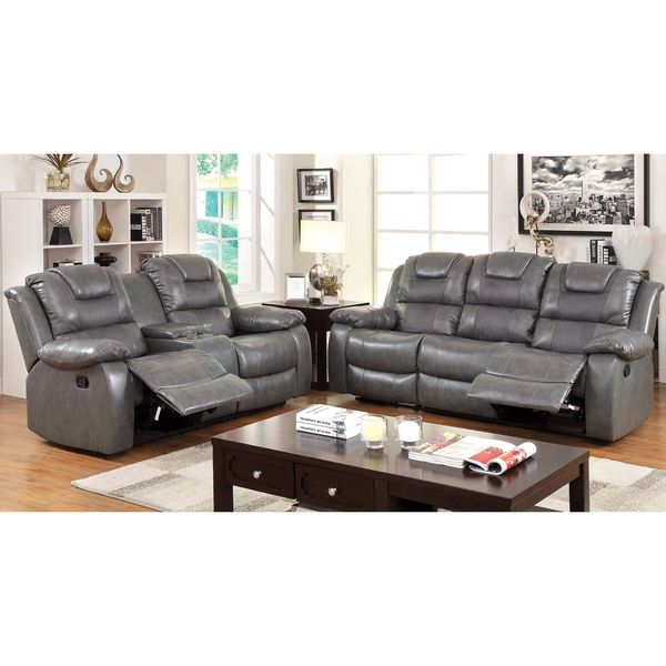 Furniture Of America Embassy Convertible Duo-tone 2-Piece