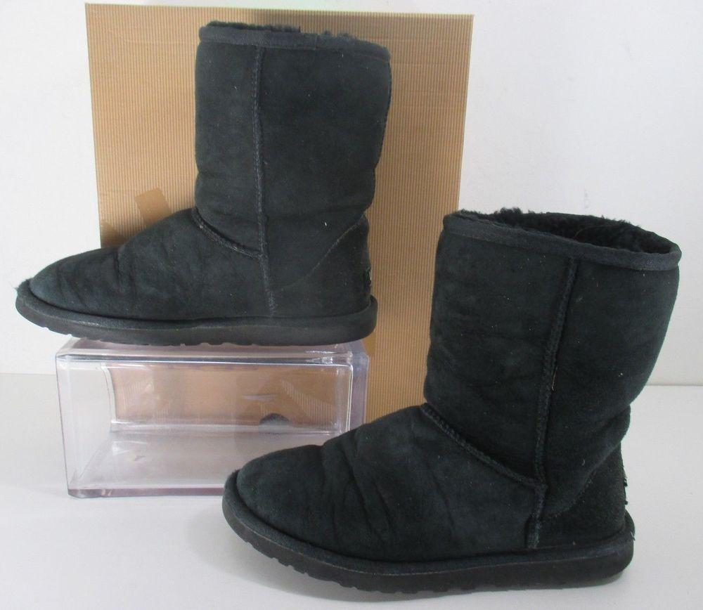 e22c9b4d13d Ugg Australia Classic Short Boot S/N 5825 Suede Winter Boots Black ...