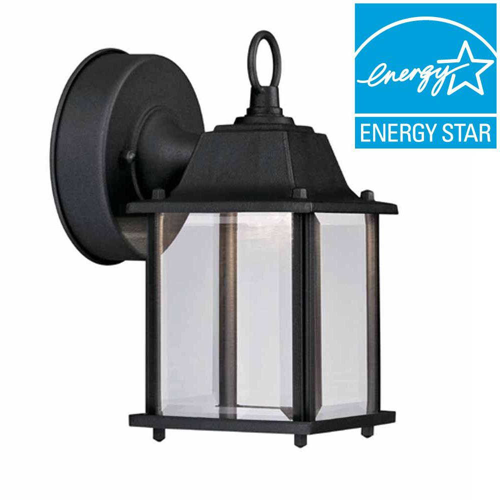 Black Outdoor Led Wall Lantern Sconce