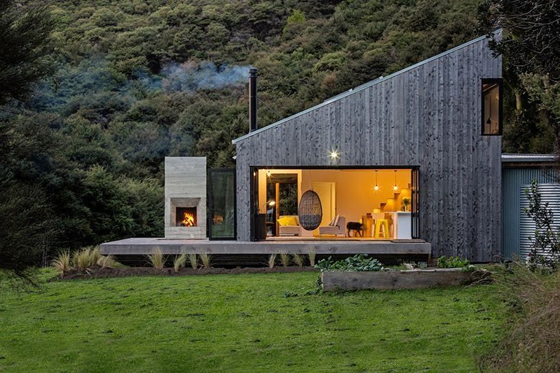 new zealand s backcountry huts inspired this breezy open home rh pixodium com