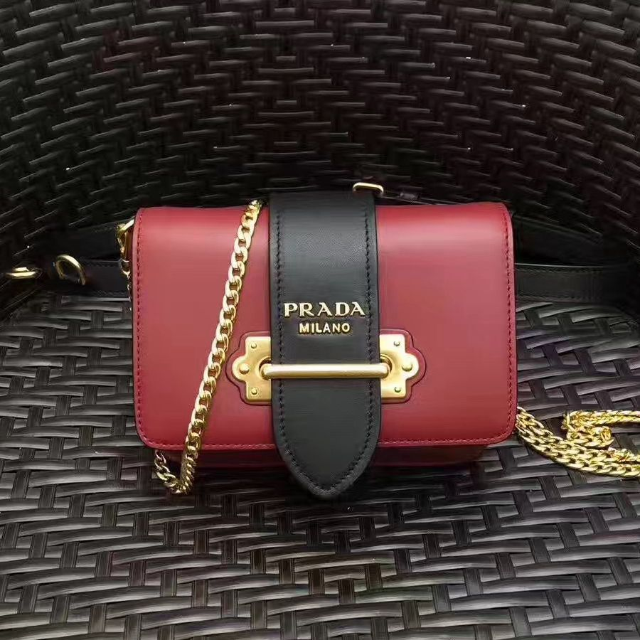 f5f8f5e4232a Prada Cahier Calf Leather Fanny Pack Bag 1BL004 Burgundy 2017 ...