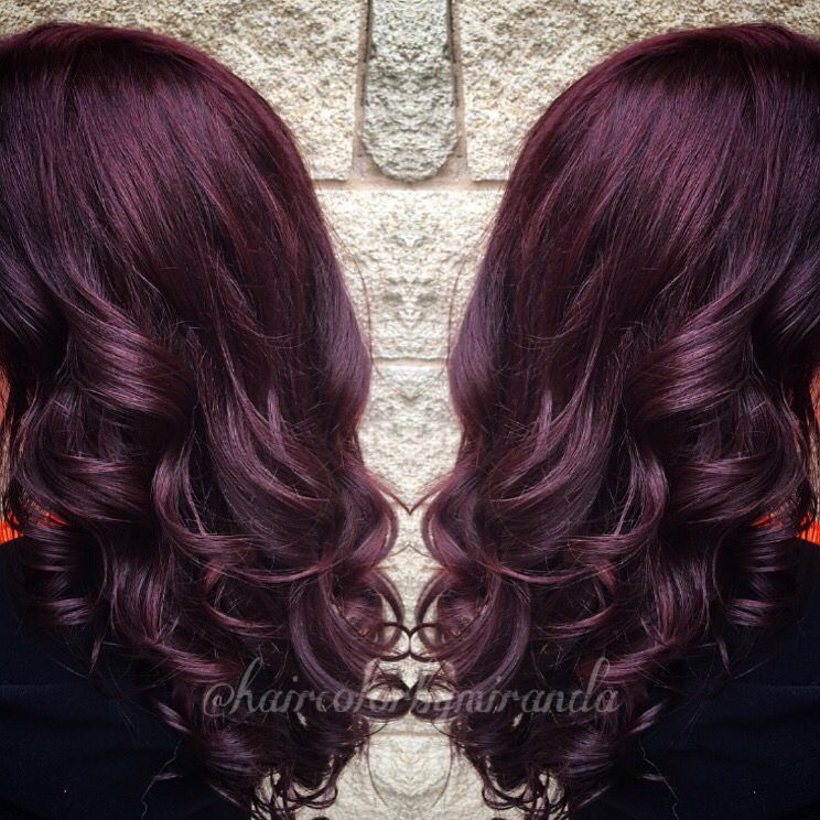 Dark Red Violet Purple Burgundy Maroon Hair Color By