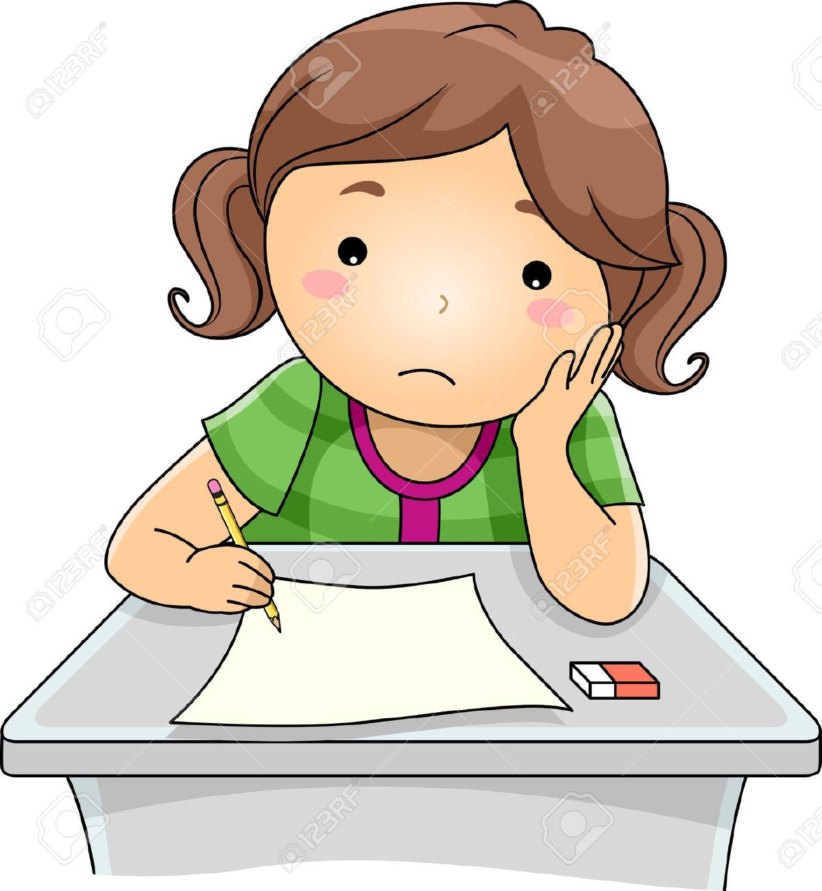 free clip art for filling out forms | sad student clipart