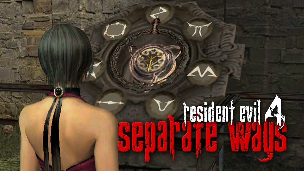 resident evil 4 separate ways logo