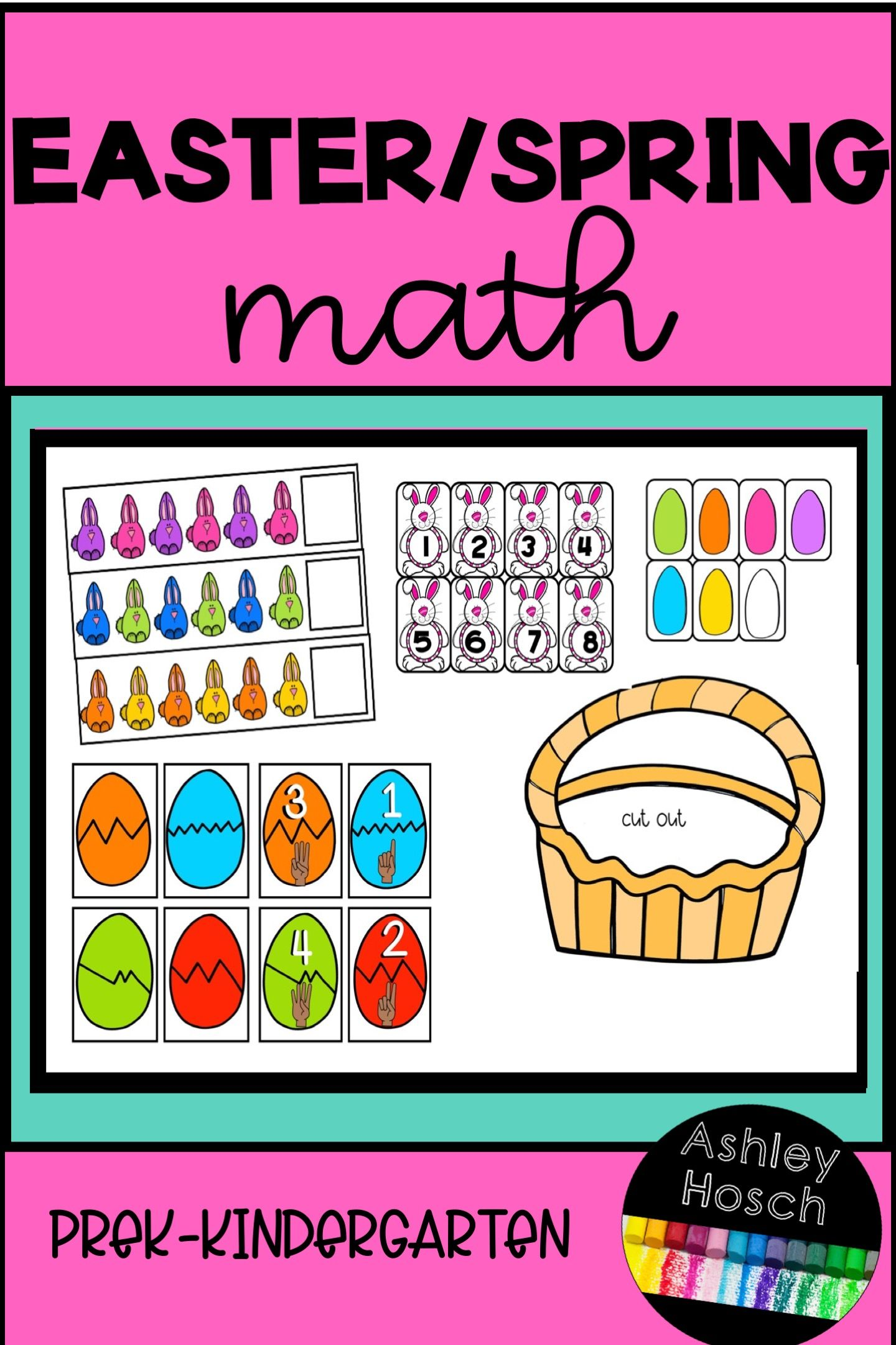 Easter Spring Thematic Math Activities For Preschool