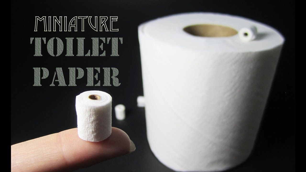 How To Make A Miniature Toilet Paper Roll Mit Bildern