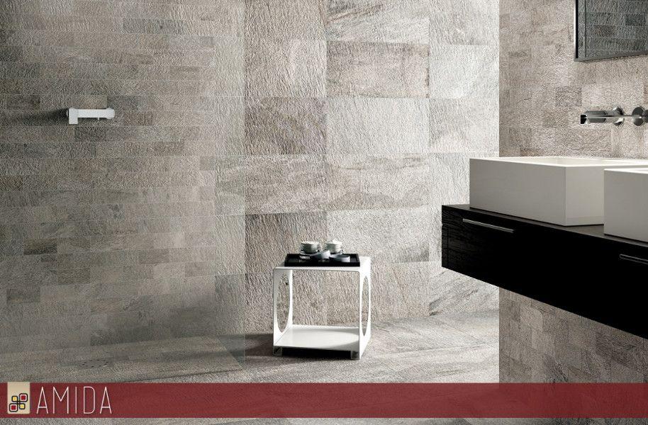 Con i nuovi rivestimenti in gres porcellanato effetto pietra elios da oggi puoi ricreare le - Rivestimenti bagno in pietra ...