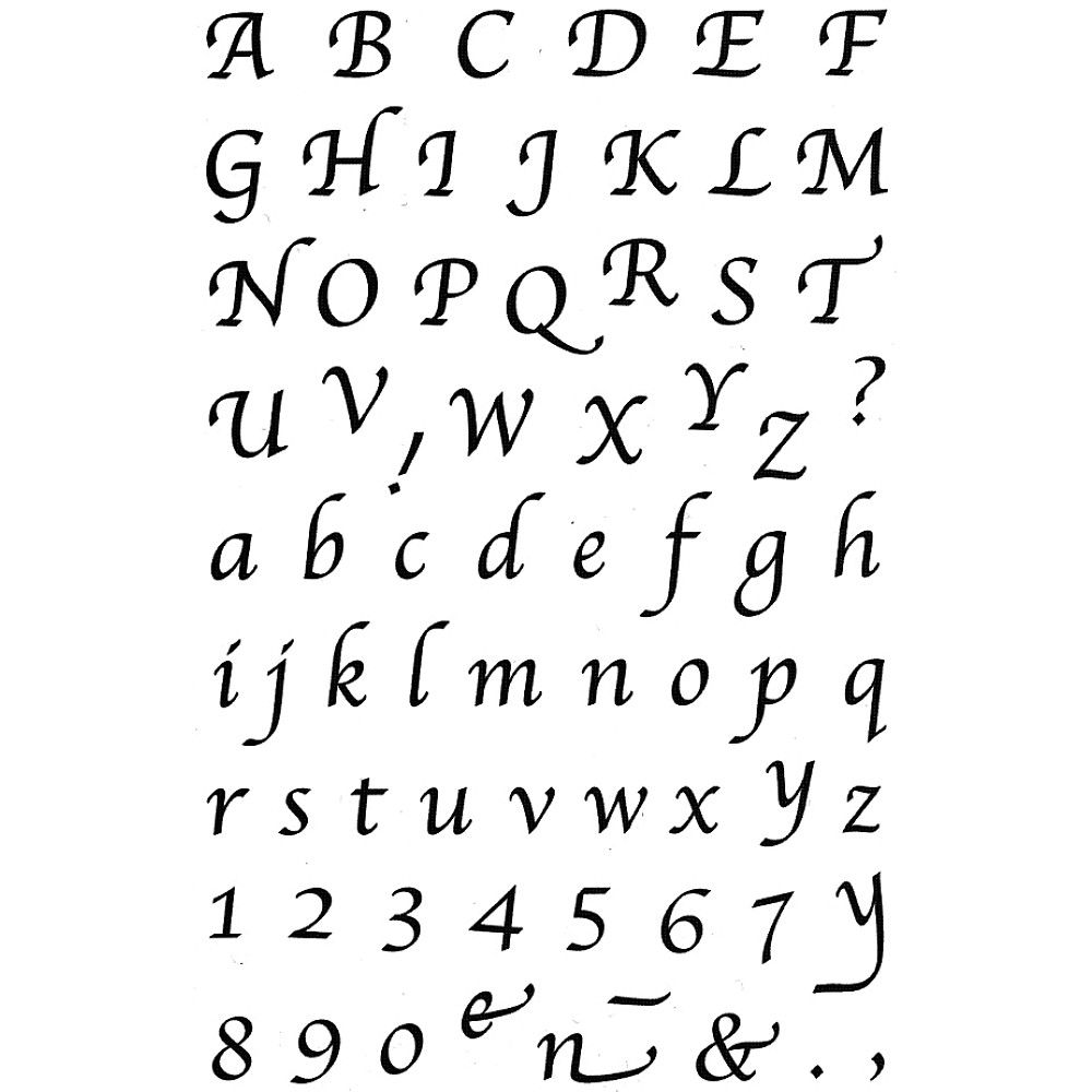 easy calligraphy fonts   Google Search   Calligraphy alphabet ...