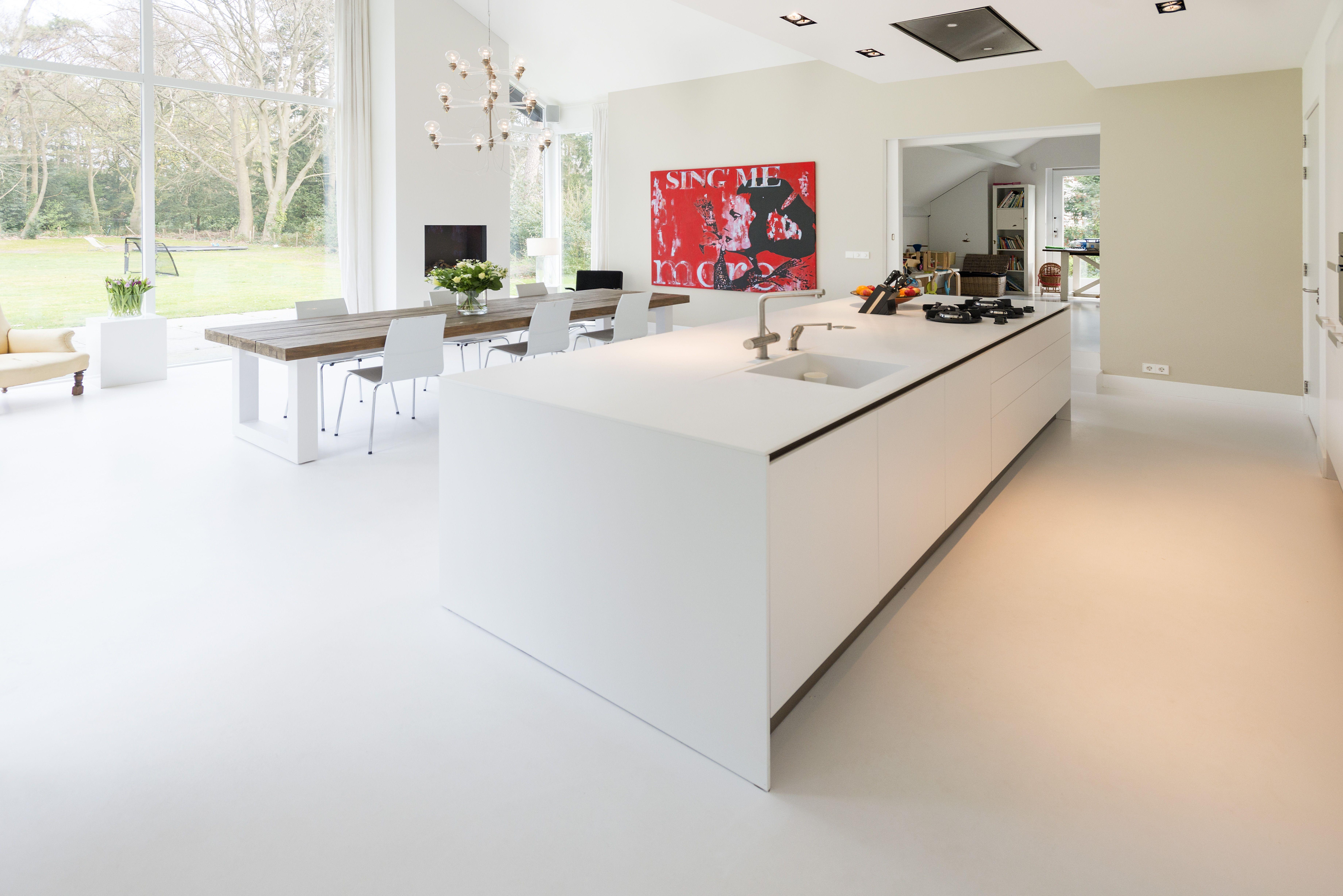 Keuken Gietvloer Witte : Tip kijk op onze website voor de mooiste gietvloer collectie
