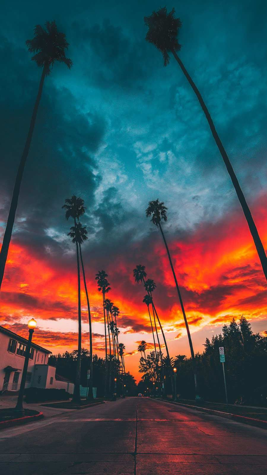 Psychedelic Wallpapers For Iphone 6 Beautiful Sunset Miami View Iphone Wallpaper Wallpaper