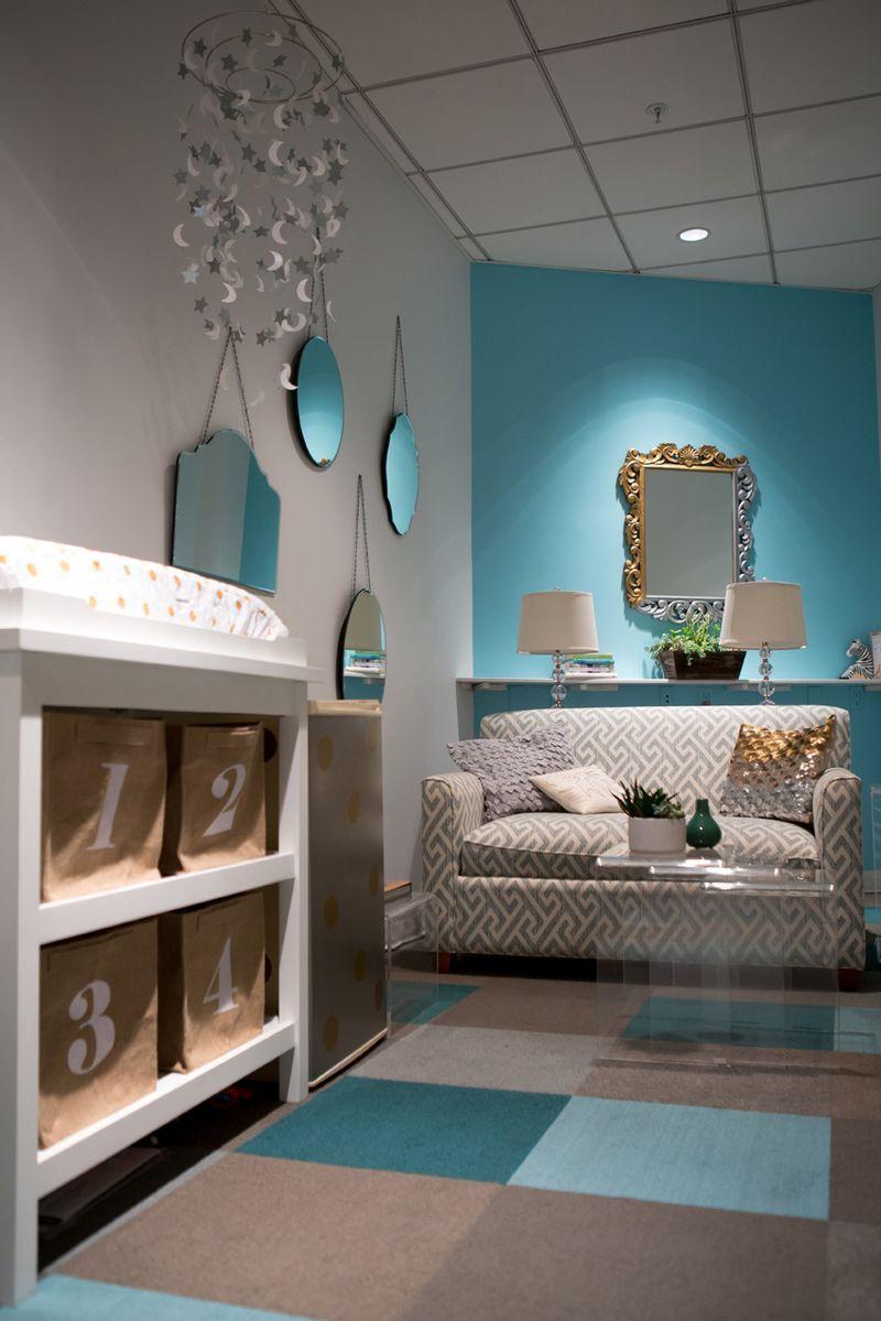 An Honestly Glam Mother S Room Crate Kids Blog Nursing Room Lactation Room Parents Room