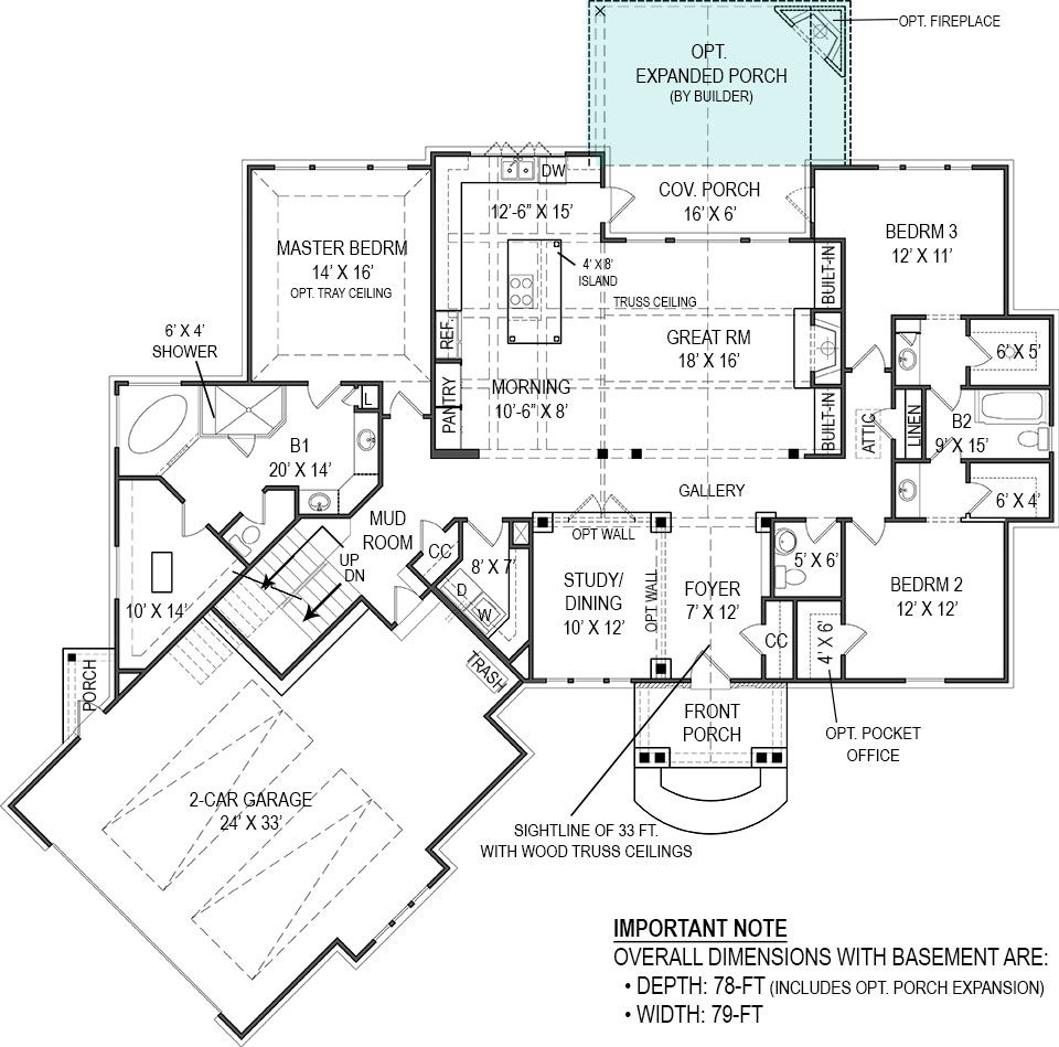 Presidio 4510 3 Bedrooms And 2 Baths The House Designers Madden Home Design Craftsman Style House Plans House Plans