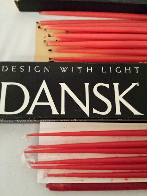 3 packs of 12 Dansk Tiny Taper Candles Vintage Red by coveteur